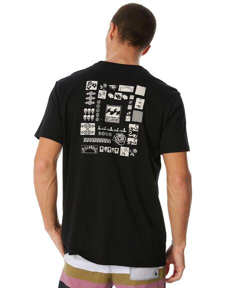 BLACK MENS CLOTHING BILLABONG TEES - 9581038BLK