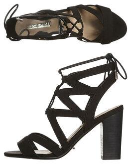 BLACK SUEDE WOMENS FOOTWEAR BILLINI HEELS - H586BLK