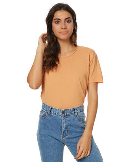 BURNT ORANGE WOMENS CLOTHING SILENT THEORY TEES - SS4083025BORNGW