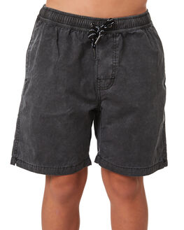 WASHED BLACK KIDS BOYS SWELL SHORTS - S3184234WSHBK