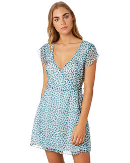 HAPPY GREENS WOMENS CLOTHING THE EAST ORDER DRESSES - EO190807DGRN