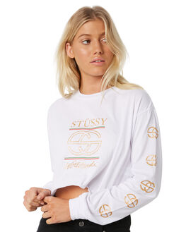 WHITE WOMENS CLOTHING STUSSY TEES - ST186000WHT