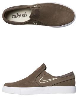 RIDGEROCK WHITE MENS FOOTWEAR NIKE SLIP ONS - SS833564-200M