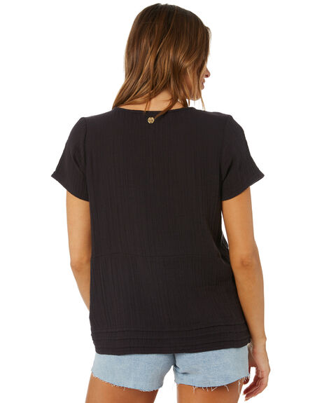WASHED BLACK OUTLET WOMENS RIP CURL FASHION TOPS - GSHHL18264