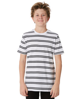WHITE BLACK KIDS BOYS SWELL TOPS - S3184009WHBLK