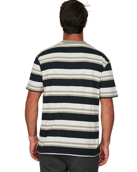 BLACK MENS CLOTHING RVCA TEES - RV-R306042-BLK