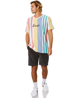 CANDY STRIPE MENS CLOTHING BARNEY COOLS TEES - 106-Q120CDYST