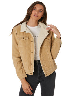 TAN WOMENS CLOTHING THRILLS JACKETS - WTW9-211CTAN