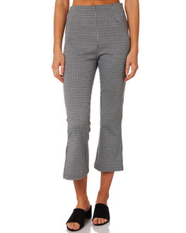 BLACK WHITE WOMENS CLOTHING TWIIN PANTS - IE19S2030BLKWH