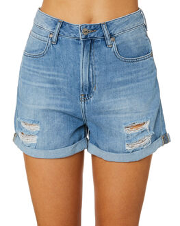 ETHER BLUE WOMENS CLOTHING LEE SHORTS - L-656530-GE9