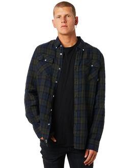 BLACK PLAID MENS CLOTHING THRILLS SHIRTS - TW8-223EZBPLD