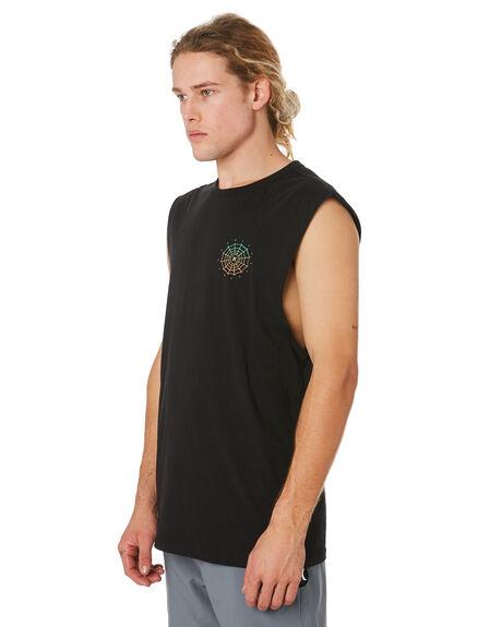 BLACK MENS CLOTHING HURLEY SINGLETS - CK1677010