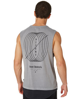 GREY MENS CLOTHING SILENT THEORY SINGLETS - 4022104GRY
