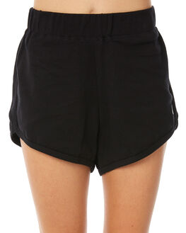 BLACK WOMENS CLOTHING STUSSY SHORTS - ST182600BLK