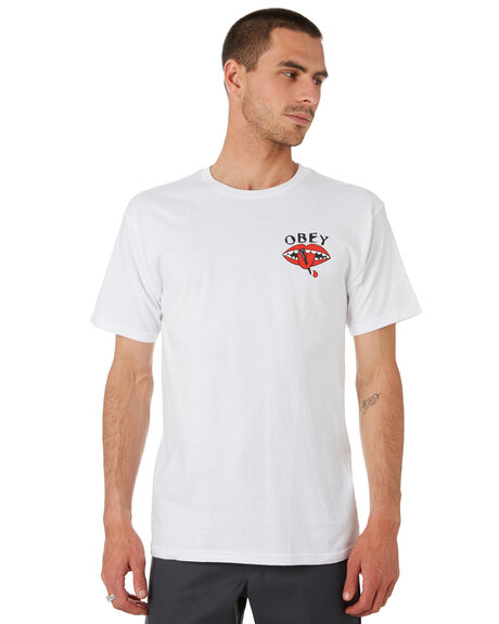 WHITE MENS CLOTHING OBEY TEES - 163082151WHT