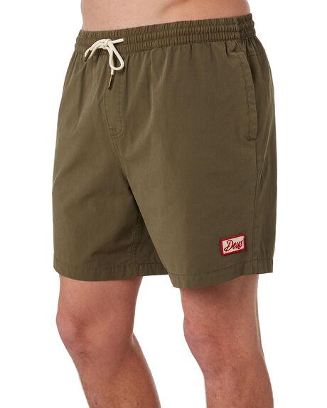 DARK OLIVE MENS CLOTHING DEUS EX MACHINA BOARDSHORTS - BDMP82557DOLI