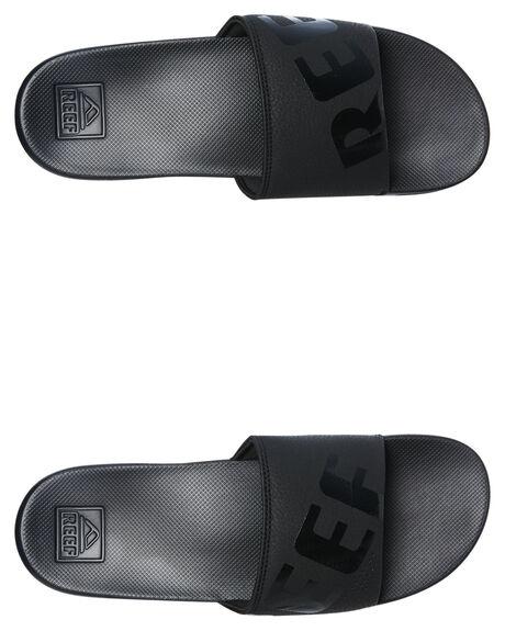 ALL BLACK MENS FOOTWEAR REEF THONGS - A3ONDALB