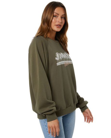 OLIVE WOMENS CLOTHING VOLCOM JUMPERS - B4612176OLV