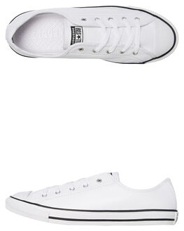WHITE WOMENS FOOTWEAR CONVERSE SNEAKERS - 564984WHT