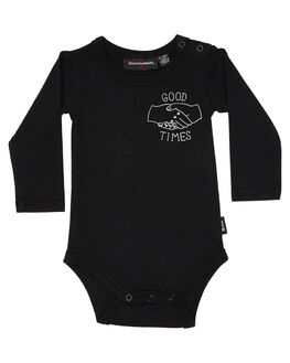 BLACK KIDS BABY ROCK YOUR BABY CLOTHING - BBB1934-GTBLK