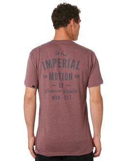 BURGUNDY MENS CLOTHING IMPERIAL MOTION TEES - 201803002053BURG