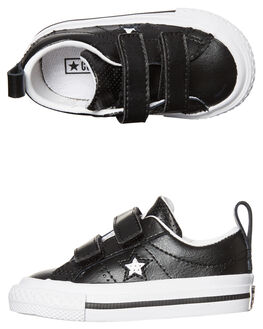 BLACK WHITE KIDS TODDLER BOYS CONVERSE FOOTWEAR - 758495BKWH