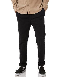 BLACK MENS CLOTHING RUSTY PANTS - PAM0974BLK
