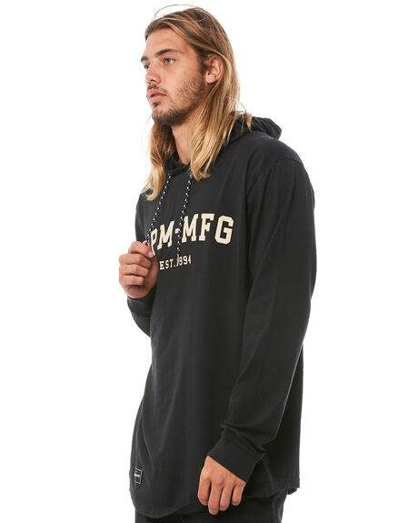 BLACK MENS CLOTHING RPM JUMPERS - 8AMT16ABLK
