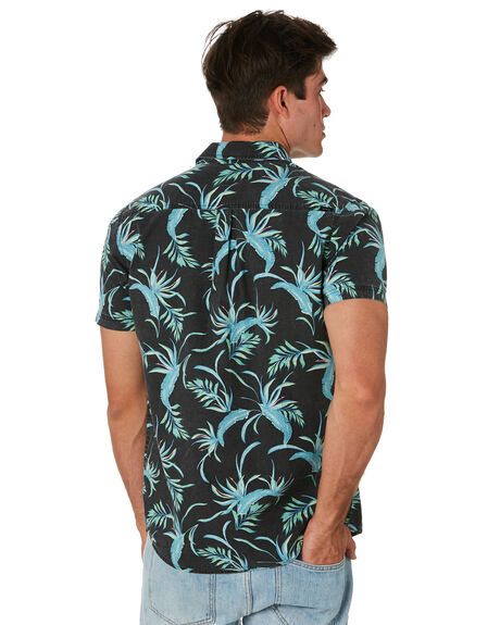 WASHED BLACK MENS CLOTHING RIP CURL SHIRTS - CSHMU18264