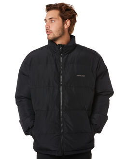 BLACK MENS CLOTHING SANTA CRUZ JACKETS - SC-MJA0578BLK