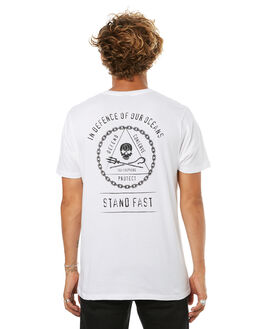 WHITE MENS CLOTHING SEA SHEPHERD TEES - SSA810BWHT