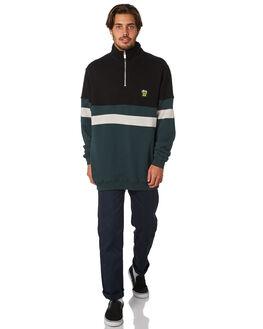 BLACK MENS CLOTHING STUSSY JUMPERS - ST097205BLK