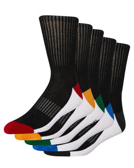 BLACK MENS CLOTHING GLOBE SOCKS + UNDERWEAR - GB71939017BLK