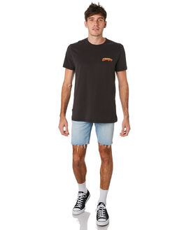 WORN BLACK MENS CLOTHING WRANGLER TEES - 901670082