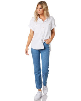 CINDY BLUE WOMENS CLOTHING ROLLAS JEANS - 130914352