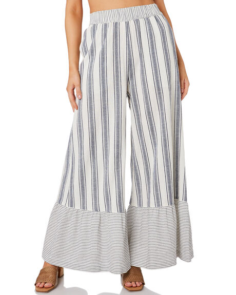 BLUE WOMENS CLOTHING TIGERLILY PANTS - T392383BLUE