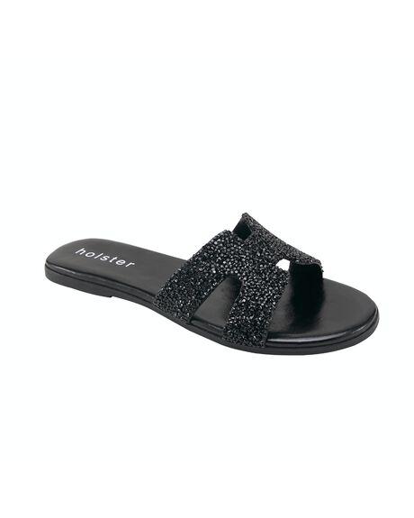 BLACK WOMENS FOOTWEAR HOLSTER FASHION SANDALS - HST371BL5