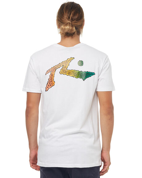 WHITE MENS CLOTHING RUSTY TEES - TTM1967WHT