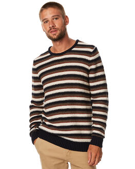 NAVY MENS CLOTHING RHYTHM KNITS + CARDIGANS - APR17-KN02NVY