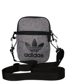 BLACK WHITE MENS ACCESSORIES ADIDAS BAGS + BACKPACKS - ED8687BLKWH