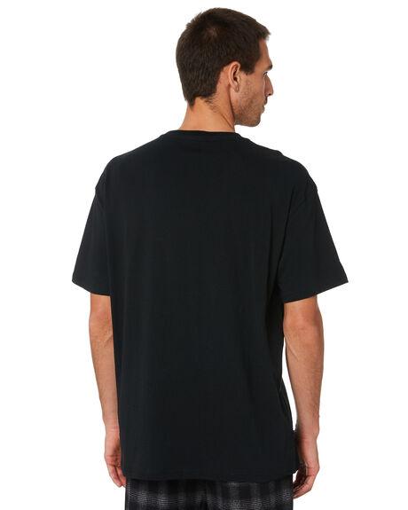 BLACK MENS CLOTHING STUSSY TEES - ST005001BLK
