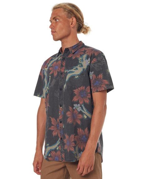 VINTAGE BLACK MENS CLOTHING GLOBE SHIRTS - GB01724005VBL