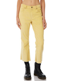LEMON WOMENS CLOTHING AFENDS JEANS - W183450-LEMN