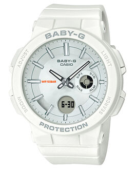 WHITE WOMENS ACCESSORIES BABY G WATCHES - BGA255-7AWHI