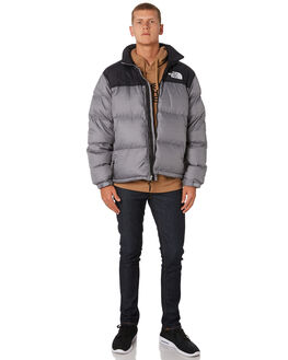 MEDIUM GREY MENS CLOTHING THE NORTH FACE JACKETS - NF0A3C8DDYY