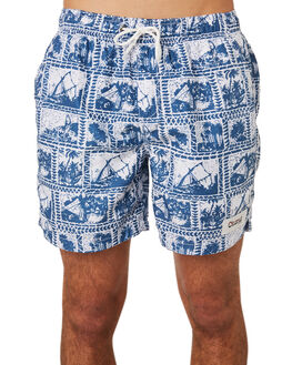 BLUE OUTLET MENS OKANUI BOARDSHORTS - OKCM1805BLU