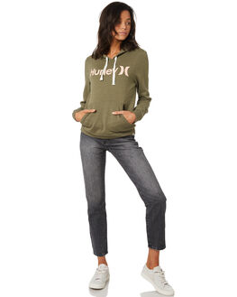 MEDIUM OLIVE WOMENS CLOTHING HURLEY JUMPERS - ARAW0001222