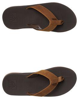 BROWN MENS FOOTWEAR REEF THONGS - A3OL2BRO