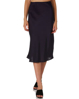 MIDNIGHT WOMENS CLOTHING LULU AND ROSE SKIRTS - LU23705NAVY