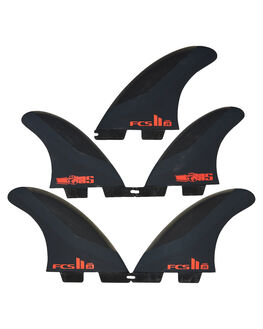 CHARCOAL RED BOARDSPORTS SURF FCS FINS - FJSM-PC02-FS-RCHRD